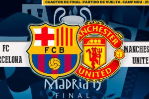 Como ver el partido Barcelona vs Manchester United Champions League